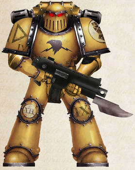 WH30K - Imperial Fists Tactical Marine (Mk III)