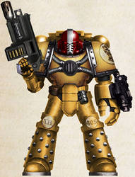 WH30K - Imperial Fists Tactical Vet Sgt (Mk IV)