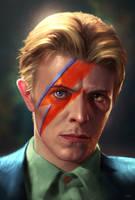 Goodbye Starman - David Bowie by WeaponMassCreation