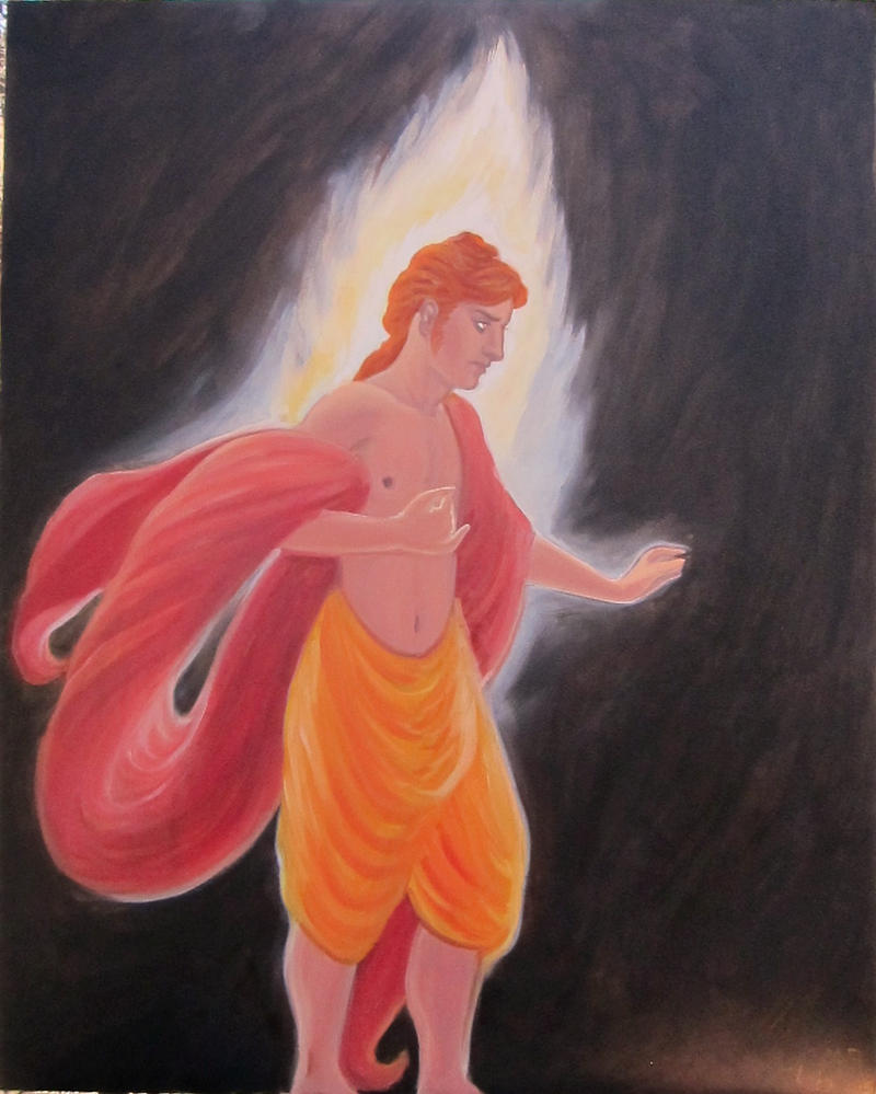 Apollo Confronts the Darkness - on panel by MariaAragon64