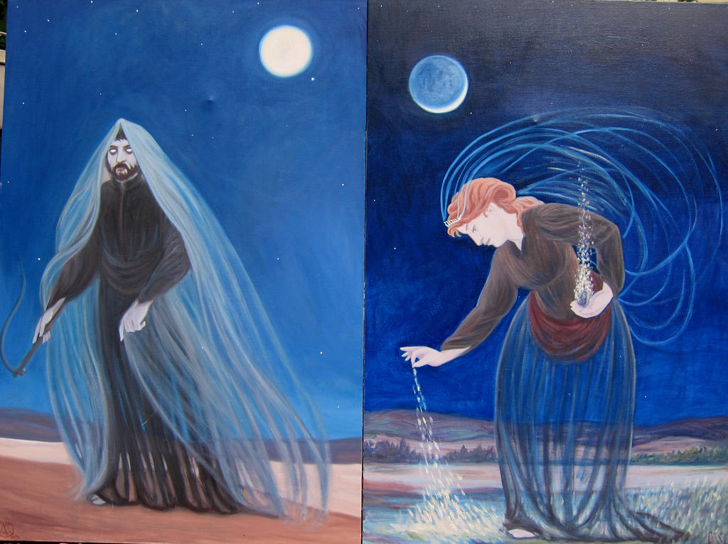 The Ghost and the Spirit - Diptych by MariaAragon64