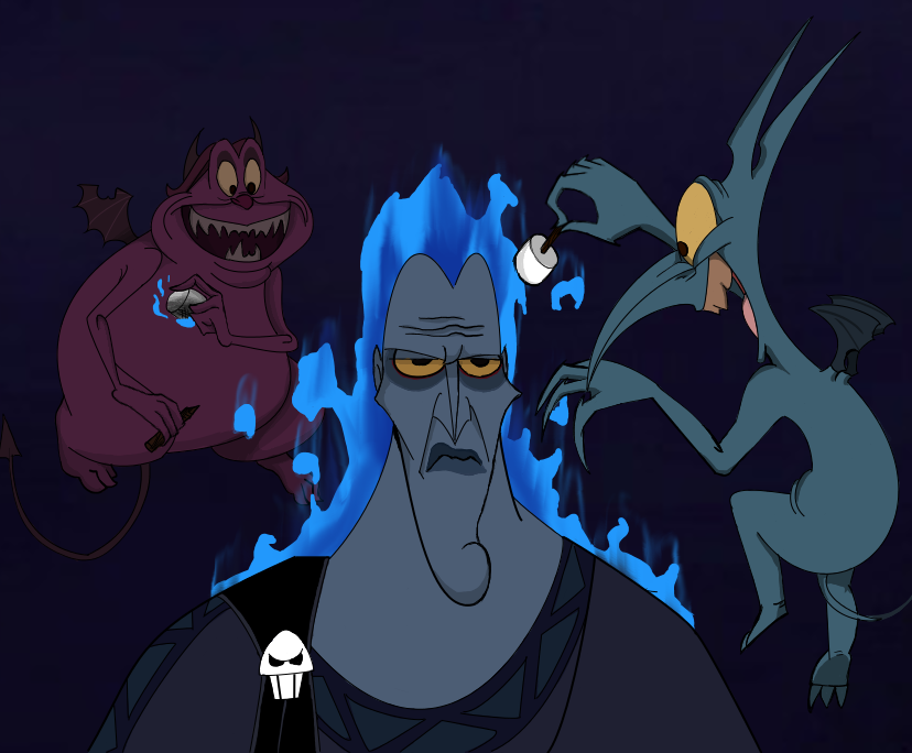 Request: Pain and Panic Roasting Hades by Inuyashatotalfire
