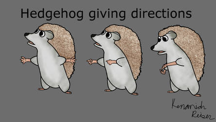 Hedgehog chatter by FireHeartDraws