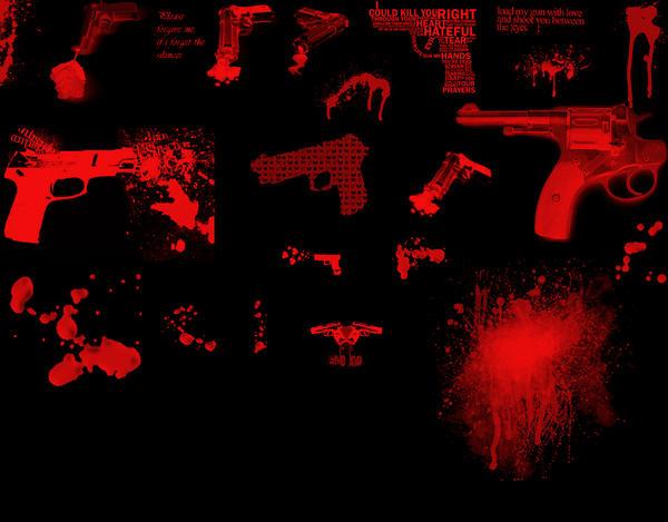Emo gun and Blood Brush