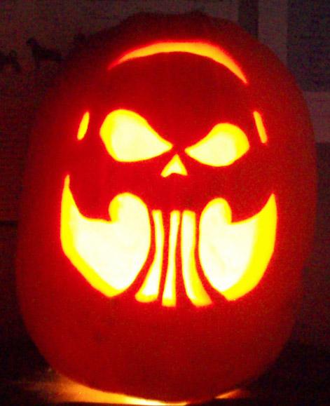 skull pumpkin by tptrsn