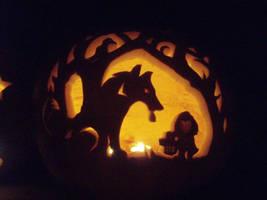 lil red ridin' hood pumpkin by tptrsn