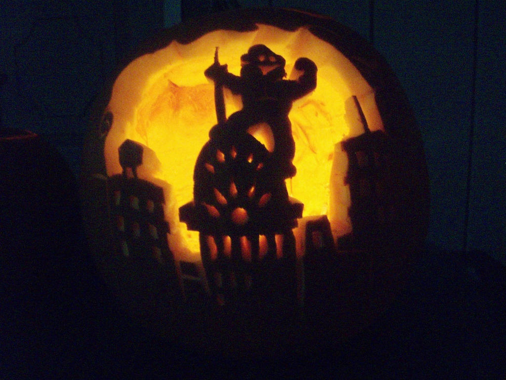 king kong pumpkin by tptrsn