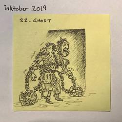 Inktober2019 22 Ghost