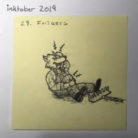 inktober2019 29 Injured