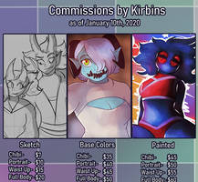 Commissions by Kirbins as of January 10th, 2020