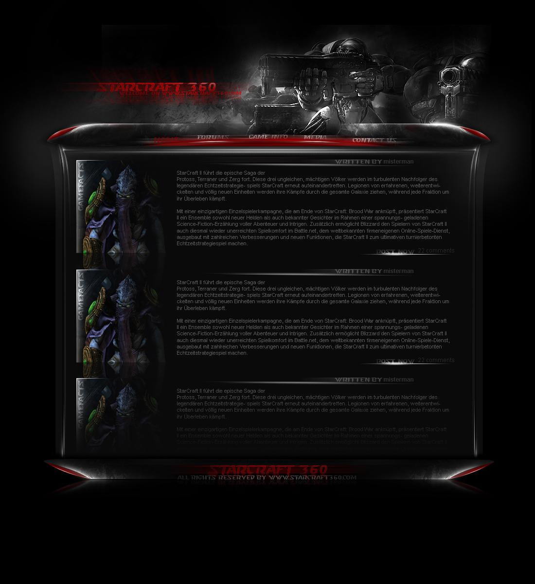 Starcraft360 - Blogdesign by rivadaice