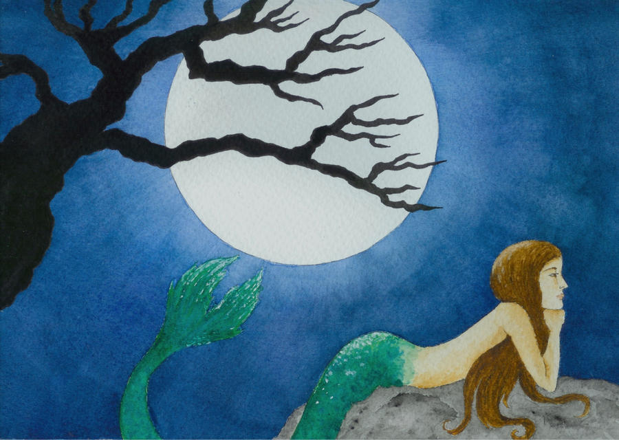 -:Midnight Mermaid:- by CarolineSuominen
