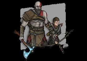 Kratos and Atreus - God of War by MatthewHogben