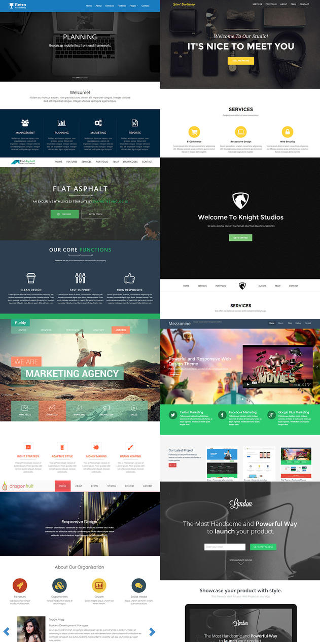 Free Bootstrap HTML5 Website Templates by Fusionrohan on DeviantArt