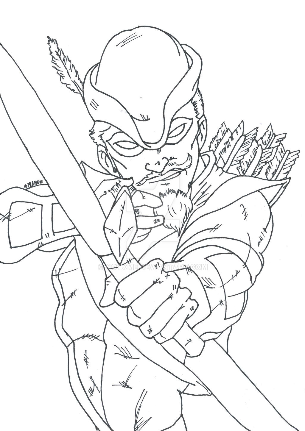 Green Arrow Coloring Pages Kidsuki
