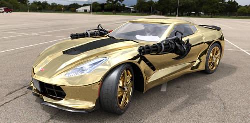 The Gold Chevy Corvette ZR1