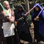 Qui-Gon Jinn, Darth Maul, and Barris Offee
