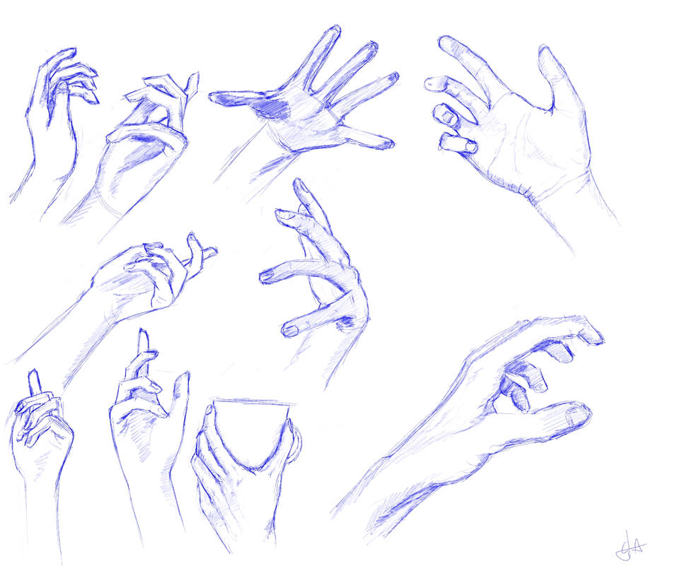 Hands study II by Programmega