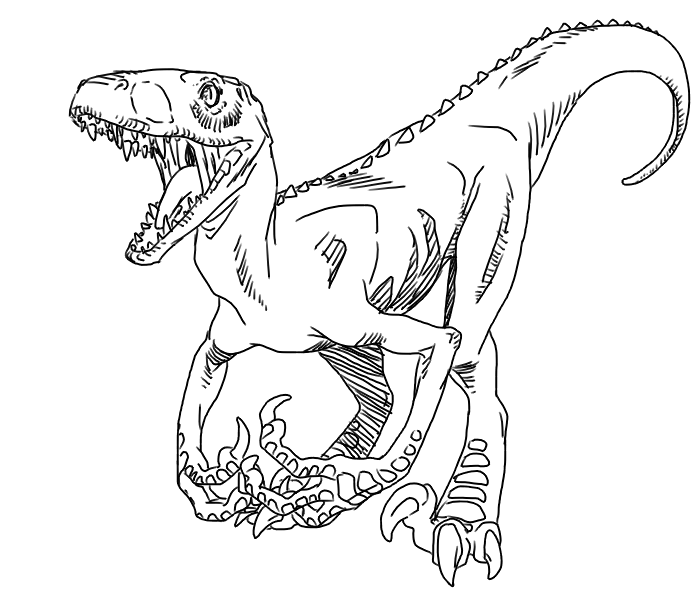 dinosaurus utah raptor coloring pages - photo#15