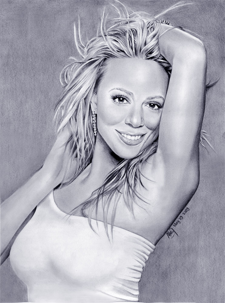 Mariah Carey ART Drawing by riefra