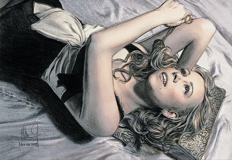 Mariah Carey Color DRrawing by riefra