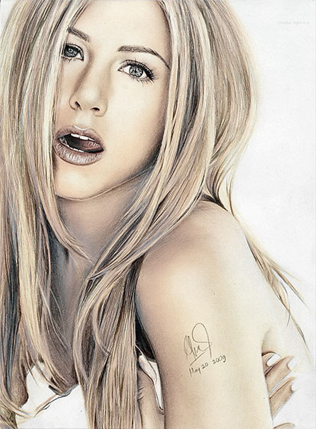 Jennifer Aniston COLOR Drawing by riefra on DeviantArt