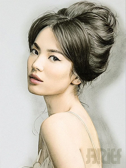 song hye kyo color drawing by riefra - Color Drawing Pictures