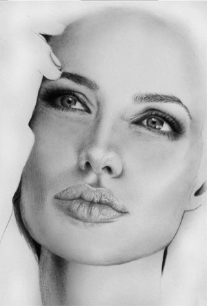 Angelina Jolie (WIP) by riefra