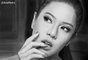 Dian Sastro  Loreal Drawing