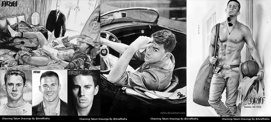 My Channing Tatum Drawings by riefra