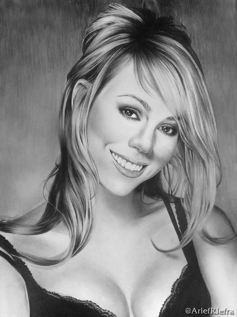 Mariah Carey Portrait by riefra