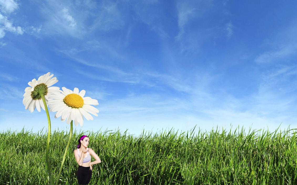 Shrunken Katy Perry in Grass! by randomstuff126