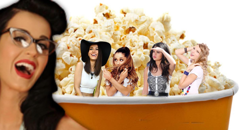 Shrunk Ariana Grande, and Friends stuck in popcorn by randomstuff126