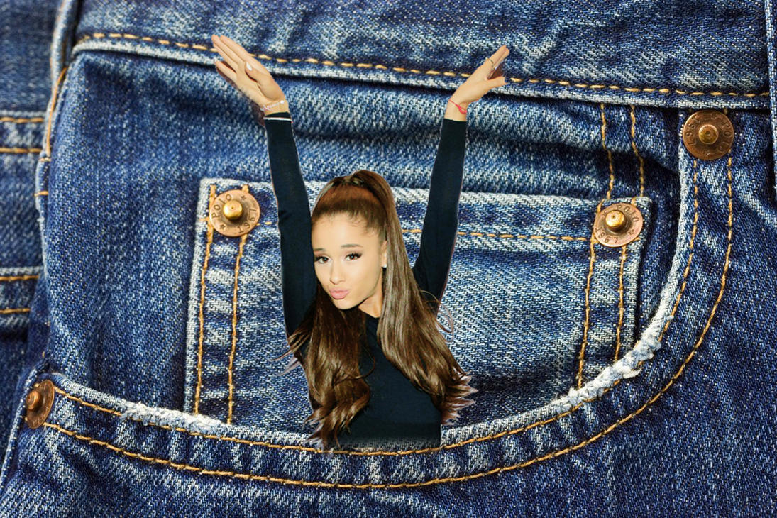 Shrunken Ariana Grande in my Pocket! by randomstuff126