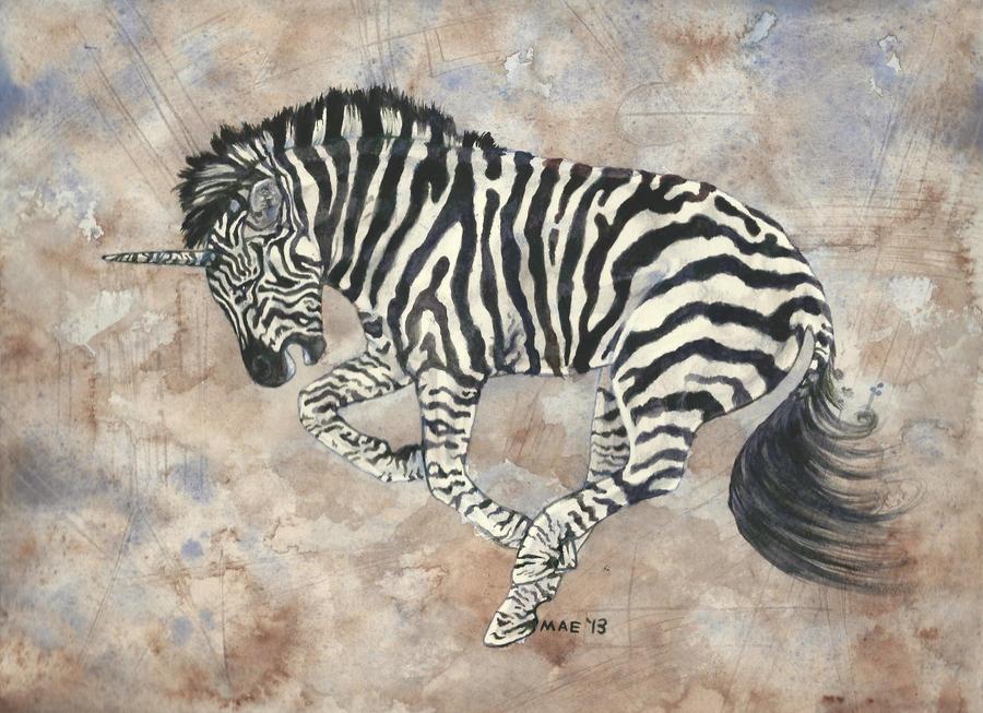 Unicorn Zebra by RattieLove