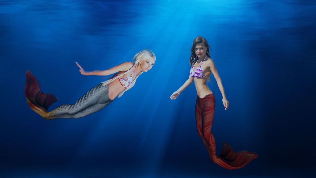 Mermaids Alina and Clara
