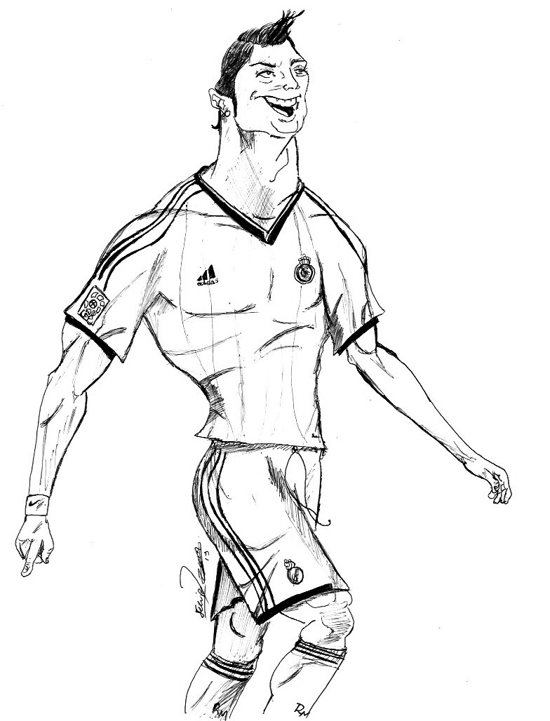 soccer coloring pages ronaldo hair - photo#14