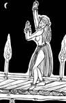 Inktober 2016 #3: The Night Elf Dancer by doktorno