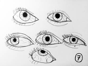 Inktober 2017 #7 - Eyes by doktorno
