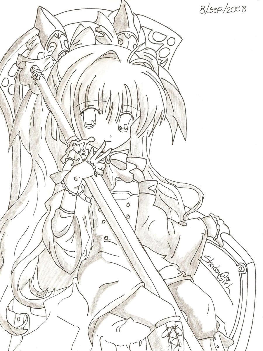 Lujo Anime Girl Para Colorear Imprimible Imagen - Dibujos Para ...
