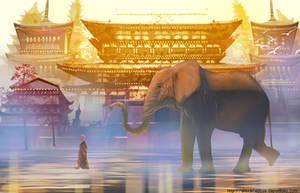 Elephant 2 by AlexAmezcua