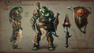 Champion of Clan Burning Fist by StuHarrington
