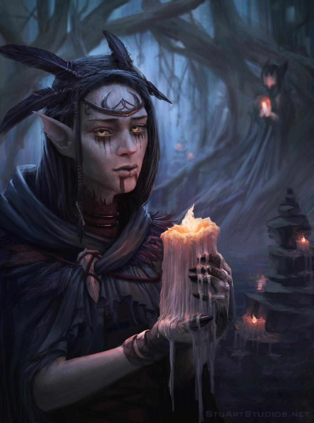 the forest witch by stuartstudios on deviantart