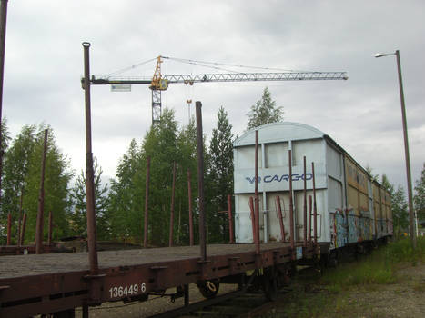 Cargo train in Joensuu / Hupsu junakuva