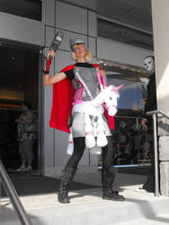 Thor riding a unicorn