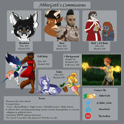 AbbieGoth's Commission Sheet .:2020:.