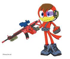 Request - Tristan the Bird (Combat Attire)