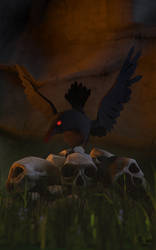 Raven by holmen