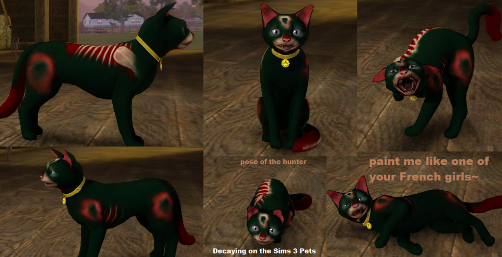 decaying in the sims 3 pets by cheeziespaz on deviantart