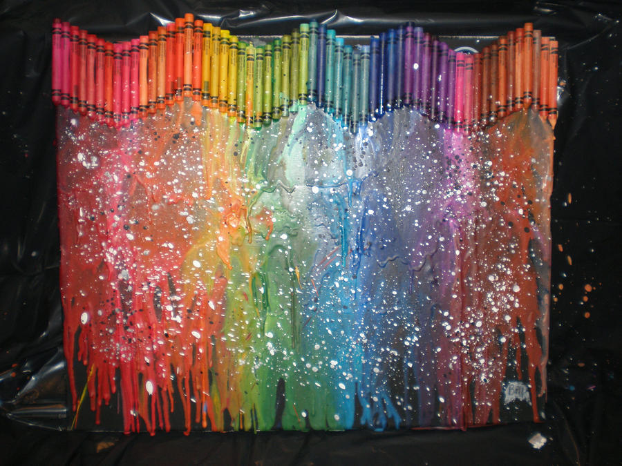 1000 images about paint canvas diy ideas on for How to melt crayons on canvas